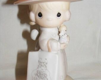 "Vintage Precious Moments figurine #E0005 - ""Seek & Ye Shall Find""."