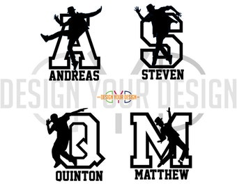 Hip Hop, Jazz, Tap Dance Decal - Adhesive or Iron On - With Name