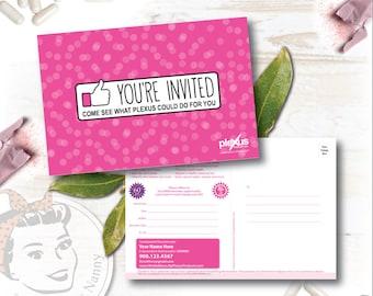 Plexus Event Invitation Postcards - Thumbs Up! - Free Shipping