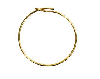 Wire Hoops - 25 mm Straight End Wire Rings - 25 Gold Hoops - Wine Rings - Wire Rings for Jewelry - Wine Charm Rings - Hoop Earrings - WH-G25