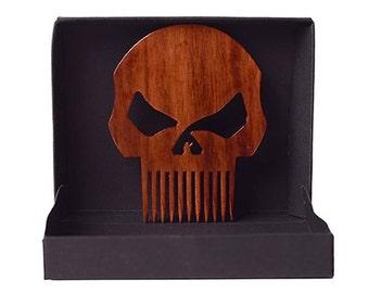 Punisher Skull | Harley Davidson | High Gloss Beard Comb