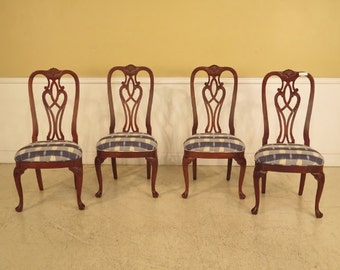 41812E: Set Of 4 ETHAN ALLEN 18C. Mahogany Dining Chairs