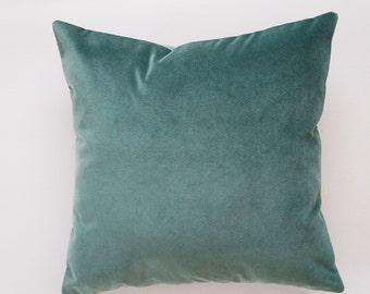 Green Velvet Pillow Cover, spring decor, green pillow cover, green velvet pillow, decorative pillow cover, spring home decor