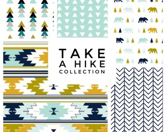 Custom Baby Bedding// Take a Hike Collection// Mix and Match Baby Bedding