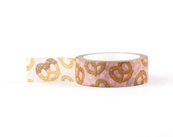 Pretzel Washi Tape - Boulangerie, German, decorative masking tape, 10 meter, littleleftylou