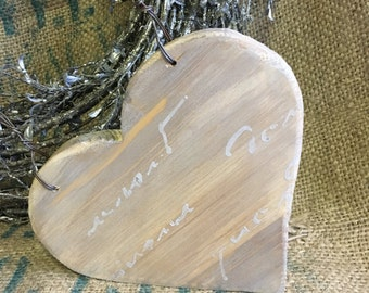 wooden heart decorated