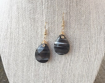 Tear Drop Agate Dangles