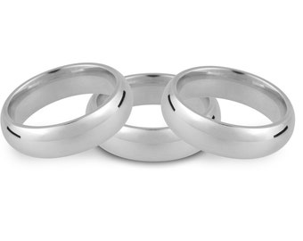 Eco Wedding ring, Silver Heavy Weight Court Wedding Ring 5mm
