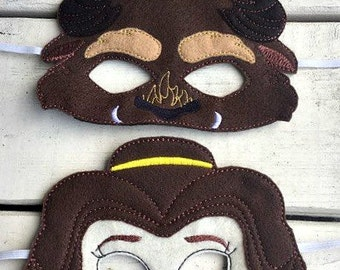 Beauty and the Beast inspired masks