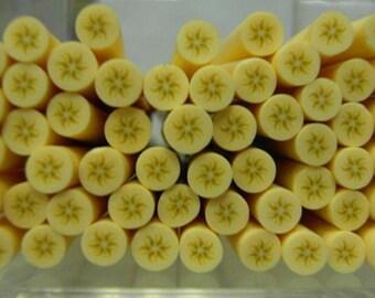 5 bananas batter 5cm Fimo canes