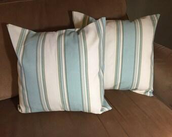 Blue & Cream pillow cover set