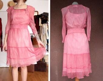 Boss Orange Pink Silk Dress - Size S
