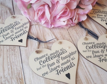 Decorative wooden heart - chance made us colleagues