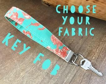 Key Fob - CHOOSE YOUR FABRIC
