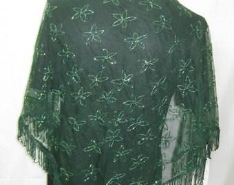 Green shawl #545