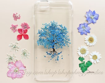 iPhone 7 Case Floral, iPhone 6s Case Clear, Pressed Flower iPhone 6s Plus Case, Clear iPhone 6s Case, iPhone 7 Plus Flower Case, iPhone 5s
