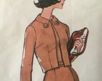 Vintage Cropped Jacket and Dress Pattern---McCalls 6903