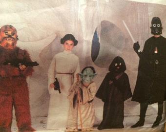 Fantastic Unisex Star Wars Costume Pattern---Darth Vader, Chewbacca, Princess Leia, Jawa, and Yoda---Mccalls 7772---Size Large 12-14