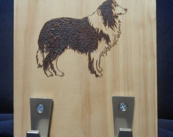Border Collie Leash/Coat hook