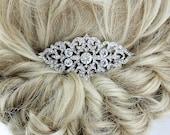 Vintage Bridal Comb, Glam Old Hollywood Wedding Headpiece, Rhinestone Silver Hair Combs, Bridesmaid Bridal Hair Clip