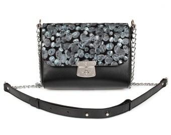 Leather Cross body Bag, Black Leather Shoulder Bag, Women's Leather Crossbody Bag, Leather bag KF-912