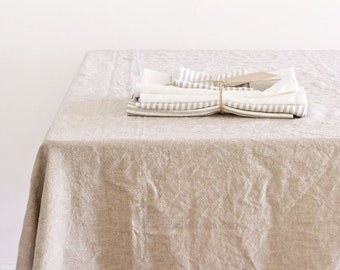 Tablecloth - Cobblestone Hemp and Organic Cotton