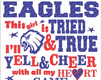 It's All About The Eagles| Eagles| SVG| DXF| EPS| Digital Cut File| Cheer| Mom| Vector File| Silhouette| Cricut| Instant Download