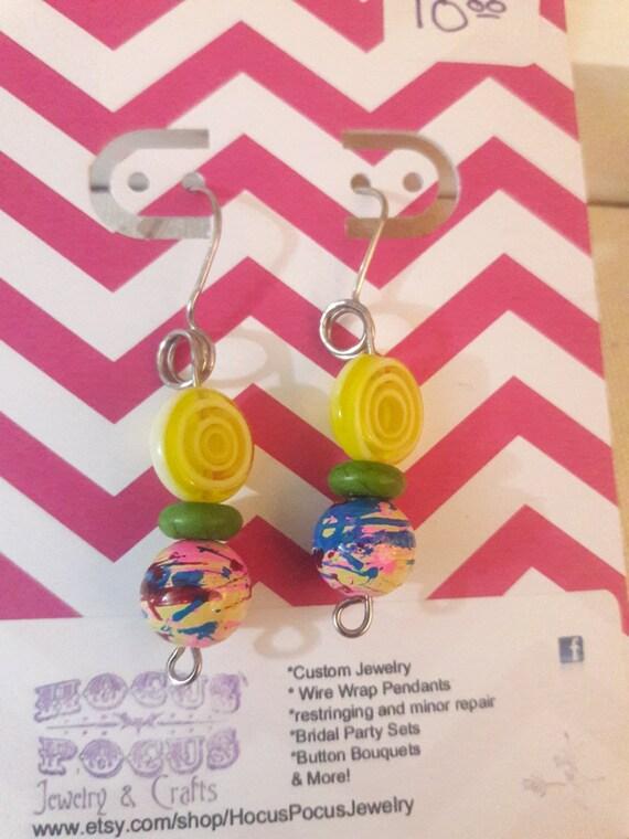 Carnival Candy Inspired earrings