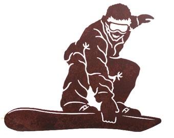 Snowboarder Laser Cut Wall Art Mural