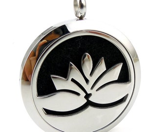 Essentail Oil Diffuser Necklace- Lotus Flower