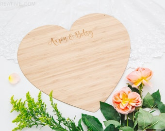 Large bamboo heart - Customised