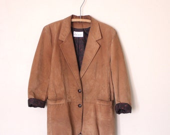 Dalmys tan suede leather jacket blazer *made in Canada* M