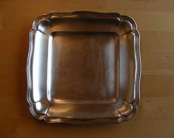 Vintage silver plated square tray