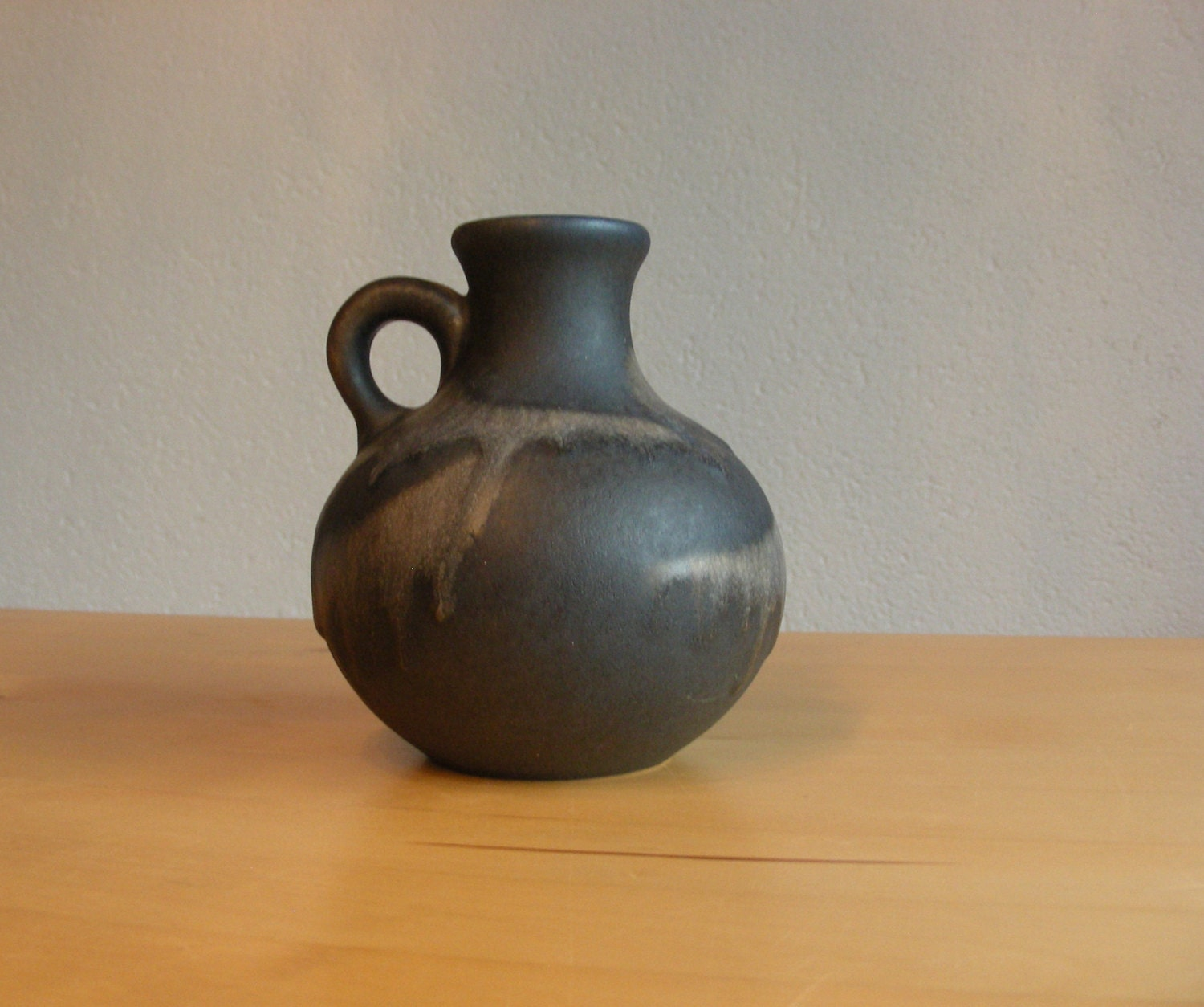 Ruscha 383 mid century west german pottery fat lava vase with handle reviewsmspy