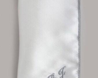 Silk Monogrammed Pocket Square