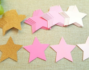 Twinkle Twinkle Little Stars/Star die cuts/ Little star cut outs/Star theme party decoration/Large gold star die cuts/Star tags/Paper stars