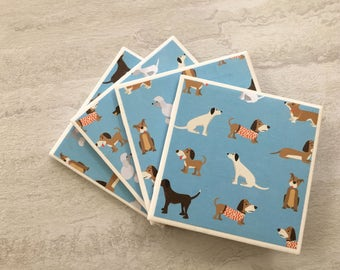 Drinks Coasters, Coaster, Dog Coasters, Puppy Coasters, Dog Decor, Dog Gift, Coasters, Tile Coasters, Ceramic Coasters, Coaster Set