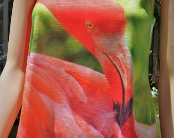 Flamingo Original Full Photo Racerback T Shirts
