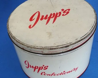 Vintage Jupp's Confectionery Tin 1940s