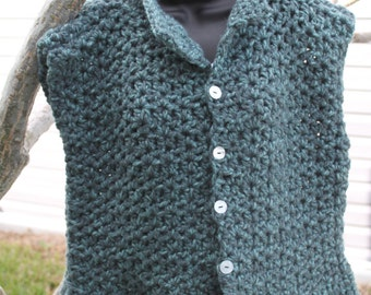 Crochet sweater vest | Etsy