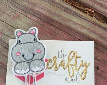 Cute hippo Planner Clip/Bookmark.