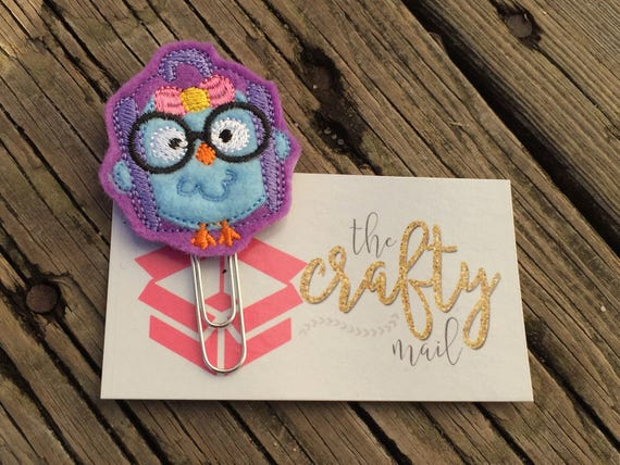 Geeky Owl Clip/Planner Clip/Bookmark.