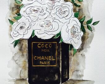 ORIGINAL Fashion Illustration-Chanel Logo