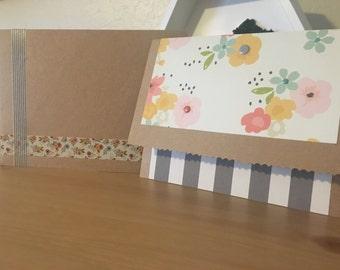 Handmade 'Raised Flower' Greeting Card