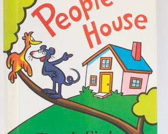 Vintage In A People House by Theo LeSieg Children's Book Dr. Seuss