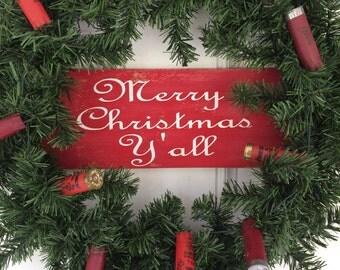 Shotgun Shell Christmas Wreath; Country Christmas