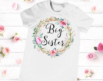 Big Sister Shirt, Big Sister Announcement, Big Sister Little Sister Outfit, Big Sister Top, Big Sister Little Set
