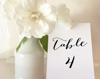 Table Numbers 1 to 50 - A5 - DIY Wedding & Printable