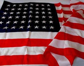 Vintage 48 Star American Flag, Banner, 2X3 Feet