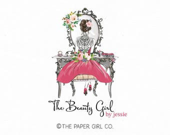 beauty logo design make-up artist logo make up artistry logo stylist logo premade logo design bespoke make up logo make up vanity logo